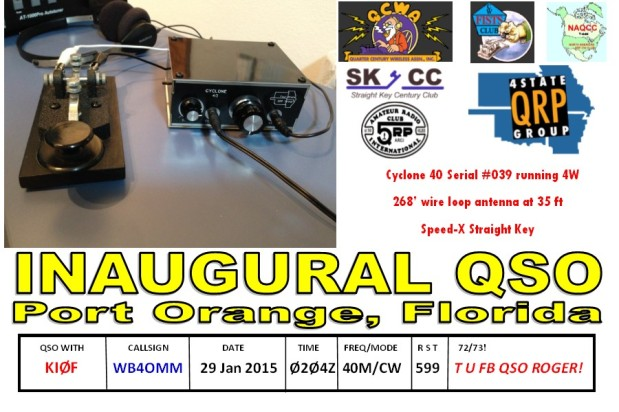 Inaugural Cyclone QSO Front