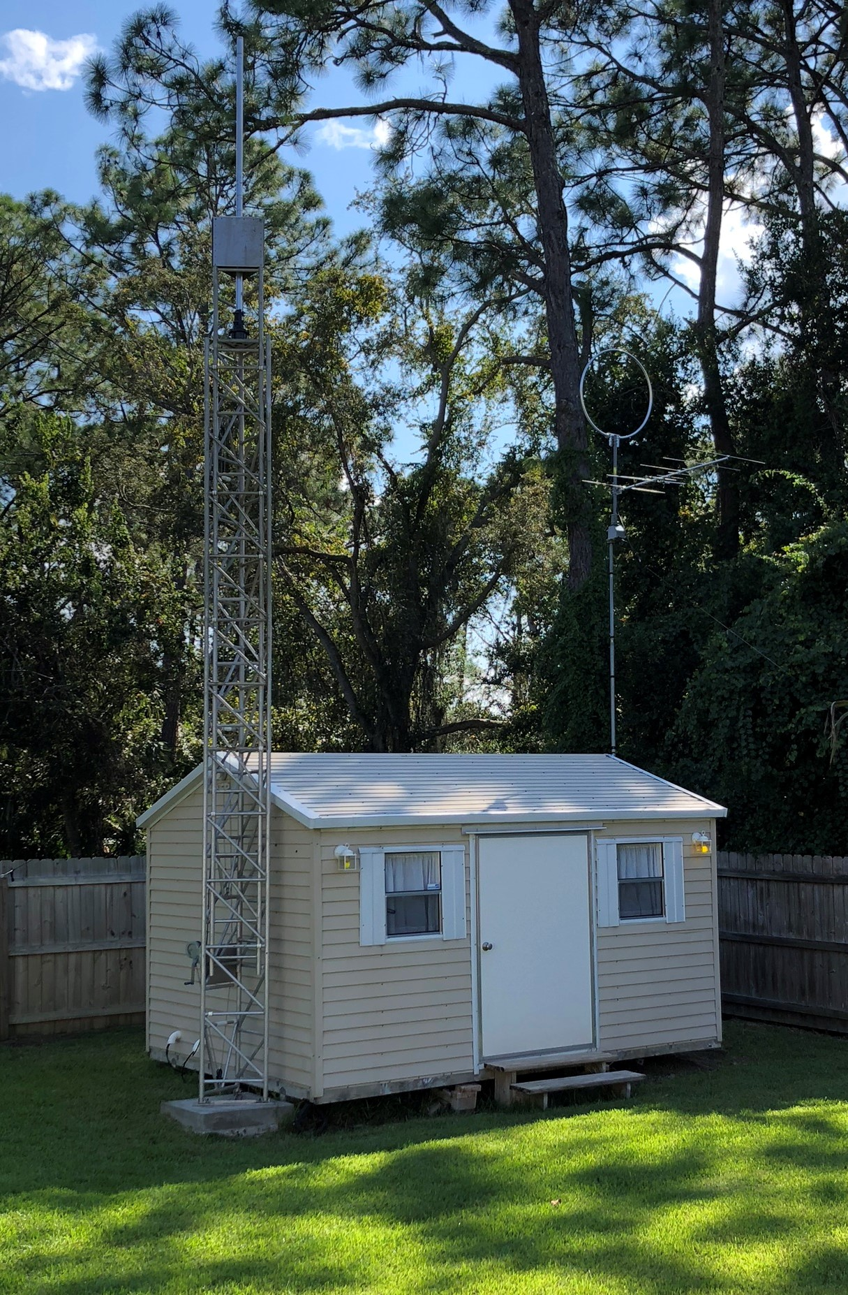 QCX Enclosure and tower is vertical again! | Amateur Radio Station